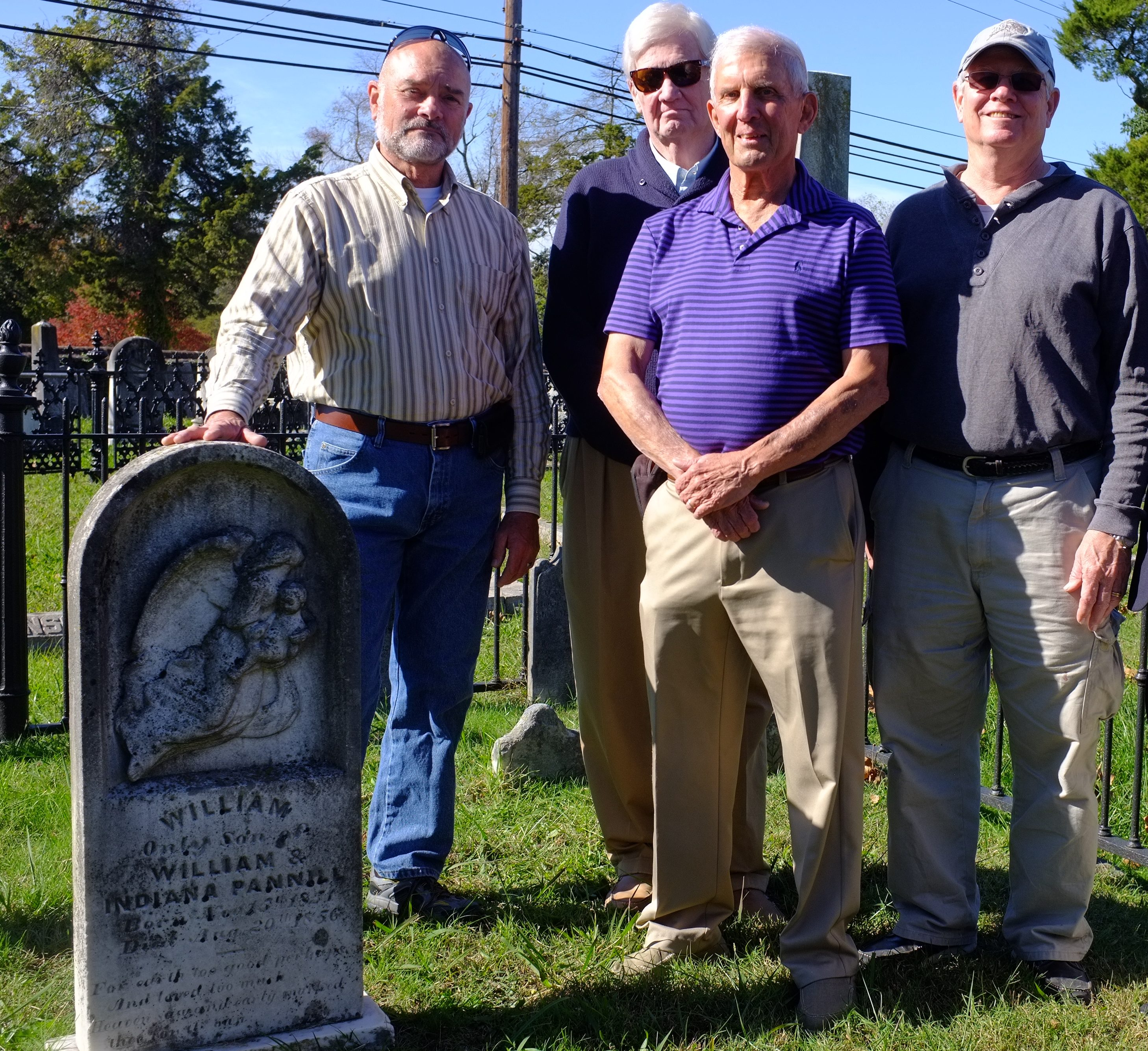 Restoration volunteers at Blandford Cemetery